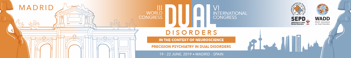 Congress of psychiatry, precision psychiatry in dual disorders, will take place in April 2019 in Madrid, Spain